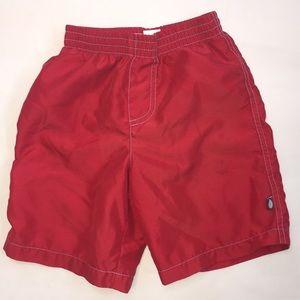 Red Boys Swim Trunks